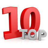 Top ten. Computer generated image Royalty Free Stock Image