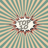 Top ten banner Royalty Free Stock Images