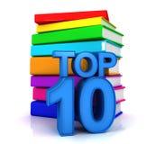 Top ten books. 3D render Stock Images