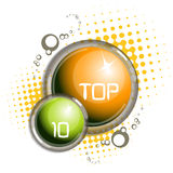 Top ten bubbles Royalty Free Stock Photography