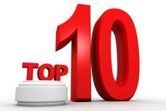 Top ten. 3d render of Top ten  on white background Royalty Free Stock Photos