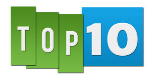 Top Ten Green Blue Stripes Royalty Free Stock Photography