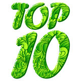 Top ten isolated vector text Royalty Free Stock Images