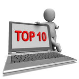 Top Ten Laptop Shows Best Top Ranking Or Rating Royalty Free Stock Photo