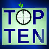 Top Ten Means Best Rated In Charts Stock Image
