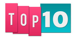 Top Ten Pink Blue Stripes Stock Images