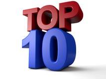 Top Ten Stock Image