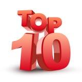 Top ten red word Stock Images
