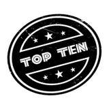 Top Ten rubber stamp Stock Image