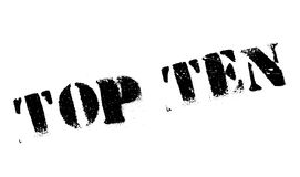 Top Ten rubber stamp. Grunge design with dust scratches. Effects can be easily removed for a clean, crisp look. Color is easily changed Royalty Free Stock Photos