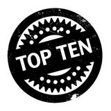 Top Ten rubber stamp. Grunge design with dust scratches. Effects can be easily removed for a clean, crisp look. Color is easily changed Royalty Free Stock Images