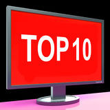 Top Ten Screen Shows Best Ranking Or Rating Stock Images