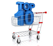 Top ten in shopping cart Royalty Free Stock Image