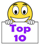 Top Ten On Sign Shows Best Ranking Or Rating Royalty Free Stock Photos