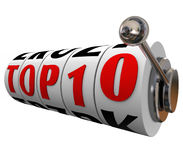Top 10 Ten Slot Machine Wheels Dials Rating Review Best Choice Stock Photo