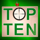 Top Ten Target Means Successful Achievement Royalty Free Stock Images