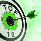 Top Ten Target Shows Successful Ranking Award Stock Images