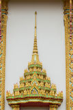 Top of Thai Temple window gold color Royalty Free Stock Photo