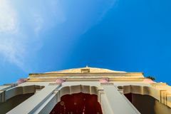 Top of Thailand Temple with blue sky stock photography