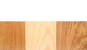 Top three boards (oak, elm, acacia) Royalty Free Stock Photo