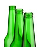 Top of three bottle isolated Royalty Free Stock Images