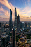 Three Giants, Shanghai stock photo