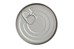Top of tin with opener Royalty Free Stock Image