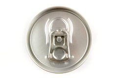 Top of a tin soda can Royalty Free Stock Photo