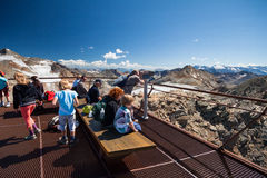 Top of Tirol. Beautiful view from Top of Tirol in Stubai Royalty Free Stock Photos