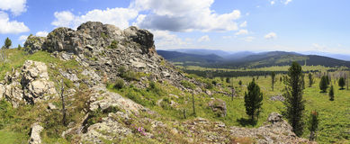 Top Tiyahty and beautiful panorama of Altai Royalty Free Stock Photography