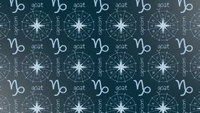 Astrology sign Capricorn. stock footage