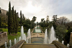 From Top to Bottom. The view from the top point of Villa d'Este park complex Royalty Free Stock Photos