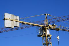 Top of tower crane Stock Photos