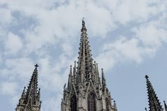 Santa eulalia cathedral of barcelona royalty free stock photos