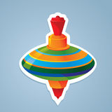 Top toy sticker. Vector illustration Stock Photography