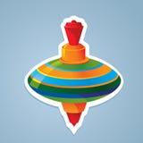 Top toy sticker. Vector illustration vector illustration