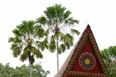 Top of the traditional house in southern Vietnam.  Stock Photo