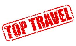 TOP TRAVEL red stamp text Royalty Free Stock Images