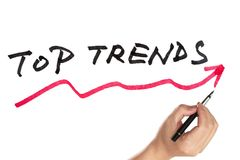 Top trends curve Royalty Free Stock Image