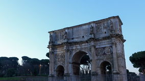 The top of Triumphal Arch Constantine. Rome, Ital stock video footage