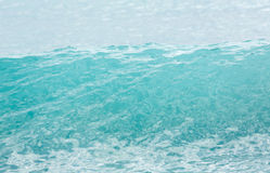 Top of turquoise wave in sea before breaking Stock Photography