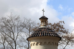 Top of turret of Vysehrad cemetery Stock Photo