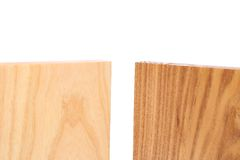 Top two boards (elm, acacia). On a white background Stock Image