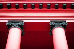 Top of two red columns Stock Photos