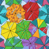 Top of umbrellas seamless pattern Stock Image