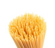 Top uncooked spaghetti. Stock Photos