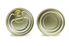 Top and under sides of tin can Stock Photo