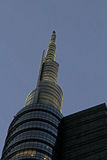 The top of Unicredit tower at evening Royalty Free Stock Photos
