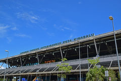 Top Upper Front facade exterior of Kota Kinabalu International Airport Royalty Free Stock Image
