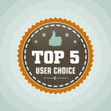 Top user choice label. Top user choice vintage label Royalty Free Illustration